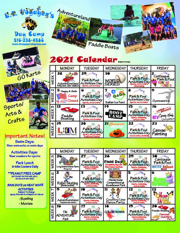 LI Voyagers 2021 Calendar
